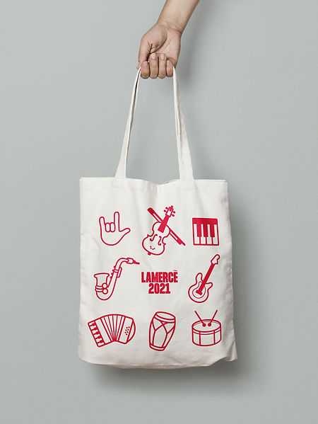 Tote bag for Acció Cultura Viva. A musical event promoted by the Barcelona City Council