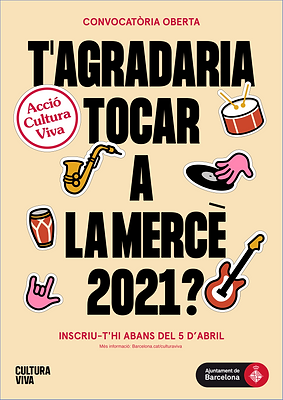 Posters for Acció Cultura Viva. A musical event promoted by the Barcelona City Council