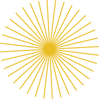 Geometric sun icon design in an art deco style