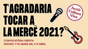 Banner for Acció Cultura Viva. A musical event promoted by the Barcelona City Council