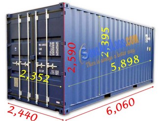 Kích thước các loại thùng container