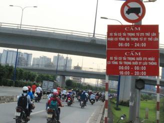 Các khung giờ cấm xe tải tại Hà Nội 2019