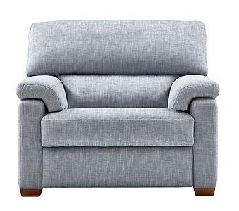 Hemingway Cuddler Recliner Blue Static C