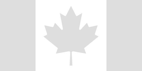 B&W canadian flag
