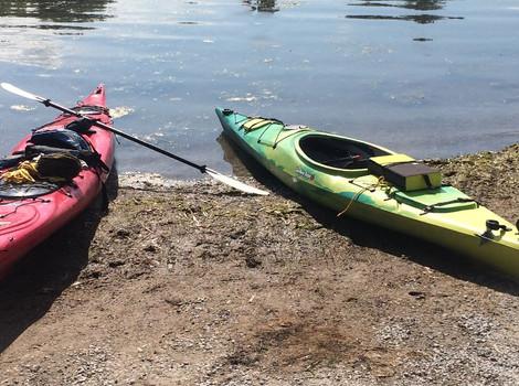 Kayak sur Simcoe pour la journée.