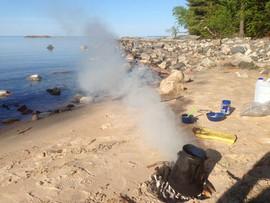 Lake Superior Campsite.