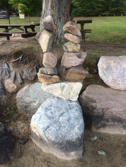 Two on one Inuksuk
