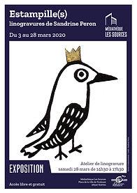 Affiche_Expo_Sandrine Peron_mars 2020_vd