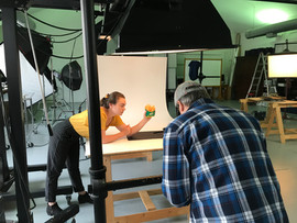 """Don Shooting for Runza, Madison """"lending a hand""""."""