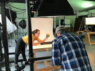 "Don Shooting for Runza, Madison ""lending a hand""."