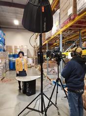 Food Bank video shoot