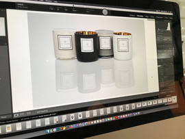 Candle product photography shoot.