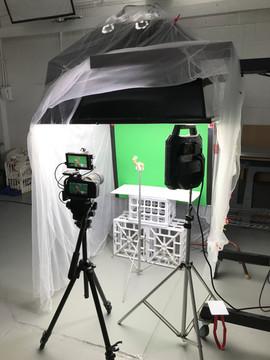 Video setup, prep for Monarch shoot