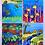 Thumbnail: Set of 4 animals postcards