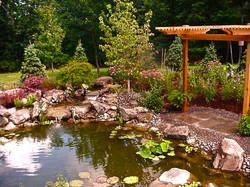 Koi Pond and setting
