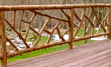 Rustic Cedar railing