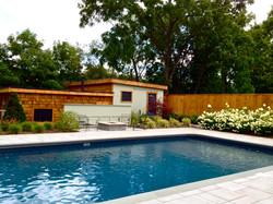 Poolside setting