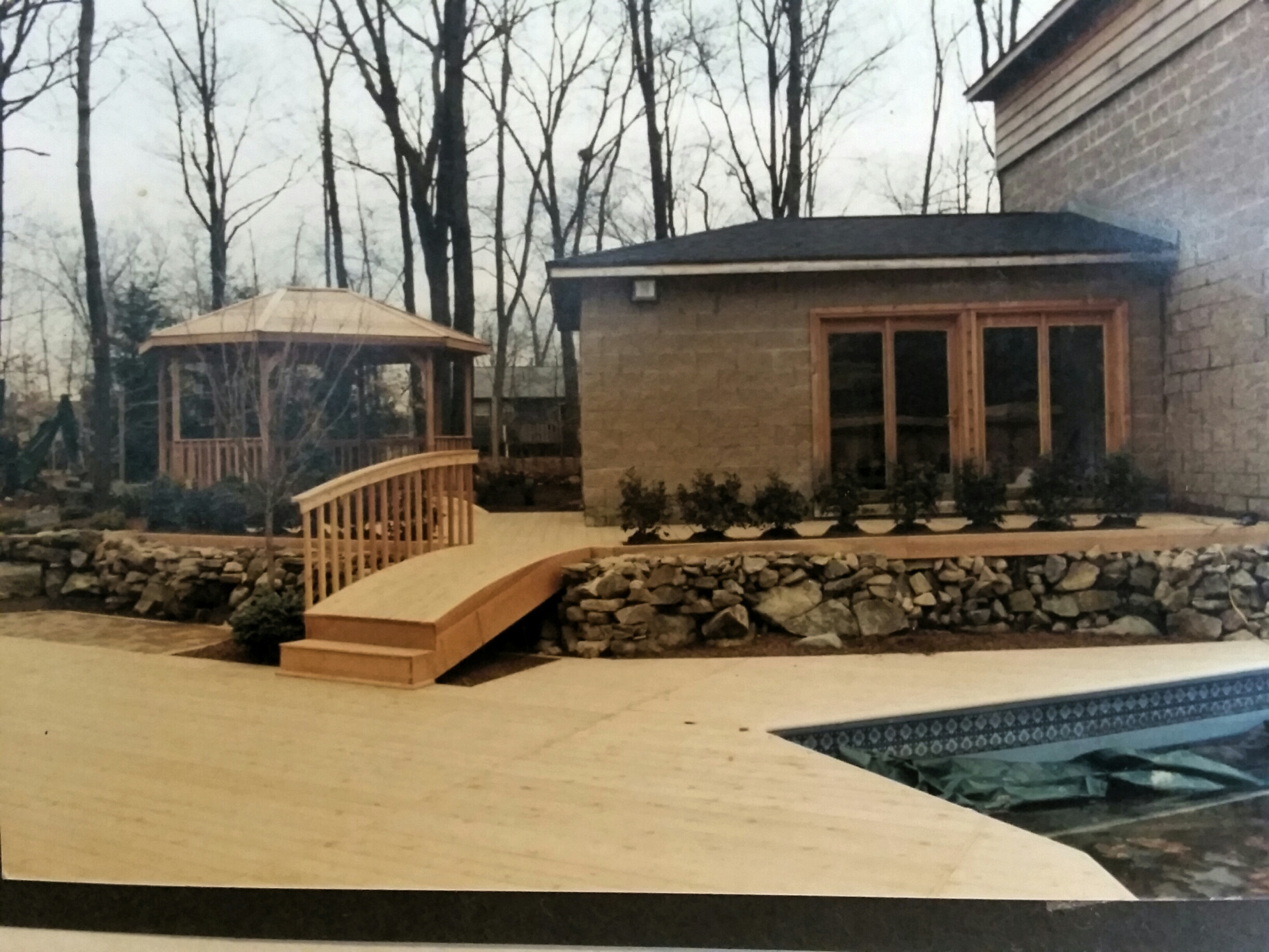 Decking, Bridge, Gazebo, Walls