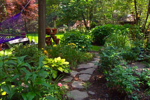 Natural stone path and setting