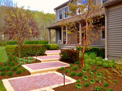 Tiered steps and gardens