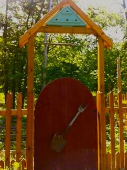 birdhouse  entry •gate • fence