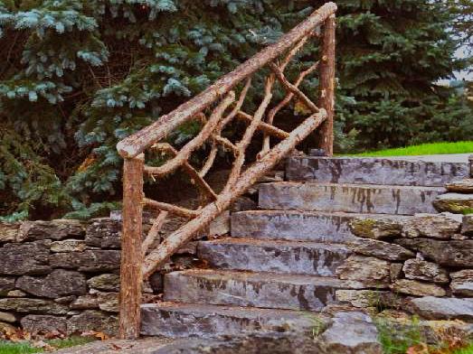 Rustic Cedar rail