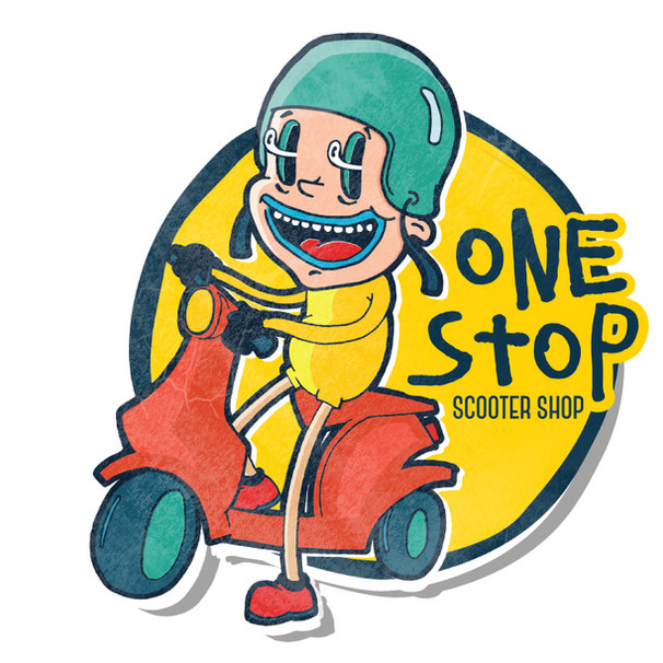 ONE STOP SCOOTER SHOP LOGO SAMPLES