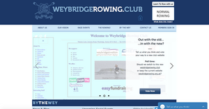 Screenshot of weybridgerowing.club homepage - click image to visit