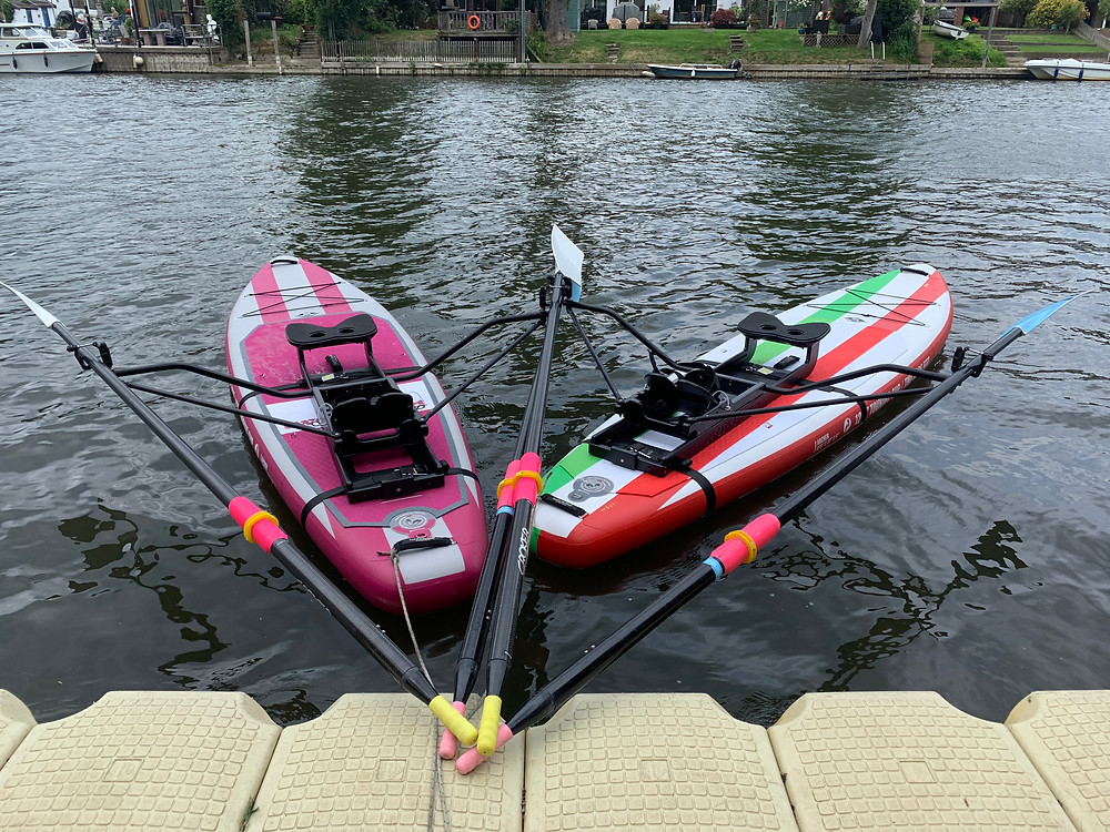 "Two SUP Rowers - ""A SUPer WEY To Row"" and ""WEY Too Much Fun"""