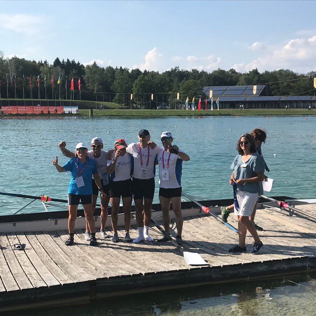 Rachel wins a coxing medal at Euro Masters #EMR2018