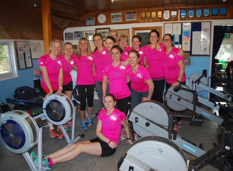 "Ladies at WEY raise £8,837 by rowing over 337,500 metres during ""The Great Row"""