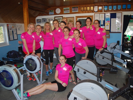 """Ladies at WEY raise £8,837 by rowing over 337,500 metres during """"The Great Row"""""""