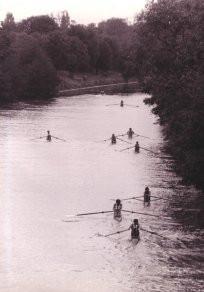 Scullers in the Desborough Cut, 1974