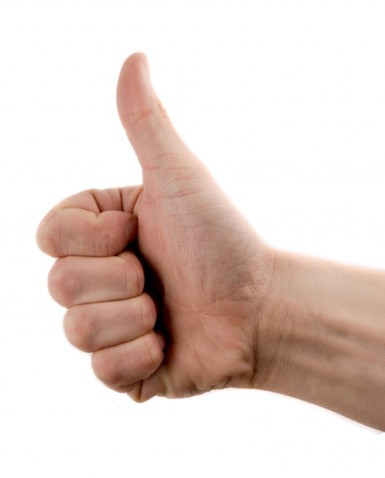 Vote 'Yay!' using this thumbs-up image