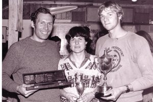 Winners from 1980, from left to right, Tim Crooks, Pauline Bird, Steve Redgrave