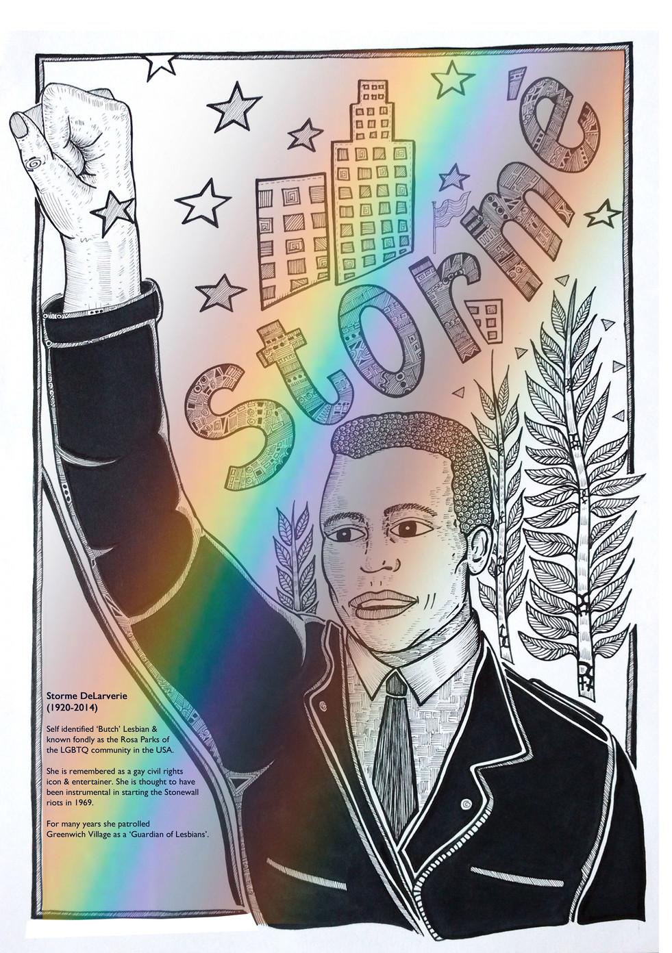 Storme Delarvarie: Black LGBTQ icon
