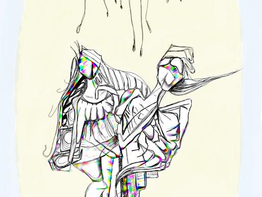 Zeynep Cansu Baseren Works: Twins - Digital drawing, The Foothold Machine - Poem