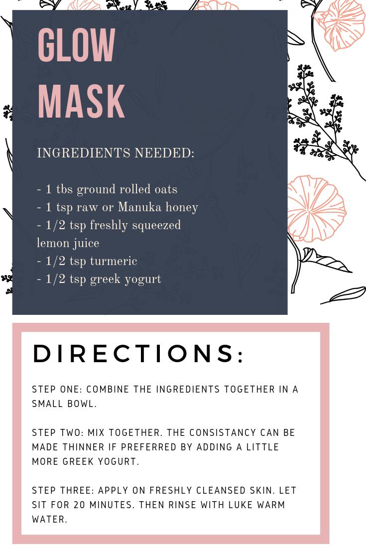 diy mask for glowing skin