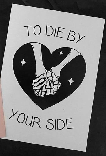 To Die By Your Side Greeting Card / You're So Cool