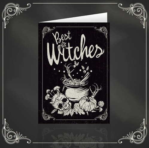 Best Witches dark & gothic greeting card / The Crafty Burreato