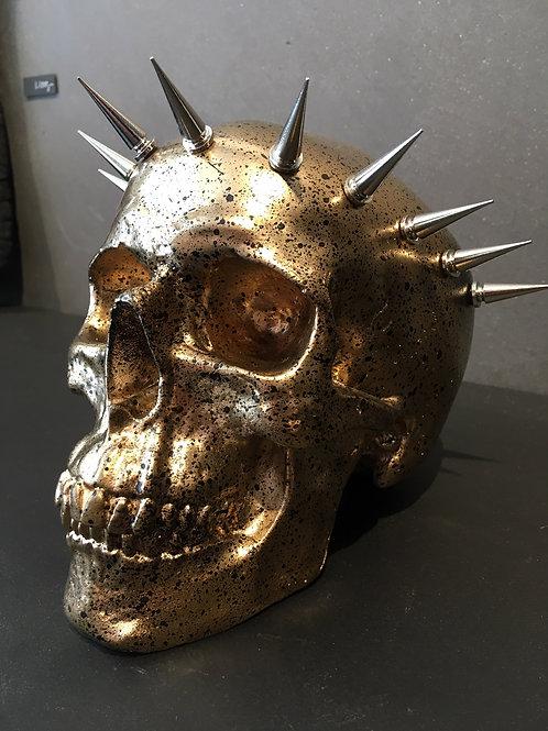 Gold & black splatter liberty skull