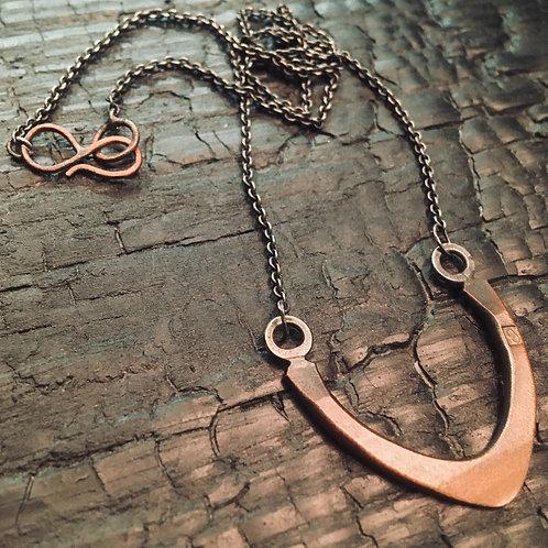STHENO copper half shaped necklace / Osa Ozdoba