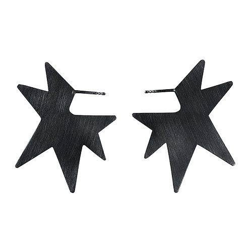 STAR silver earrings / Janni Krogh