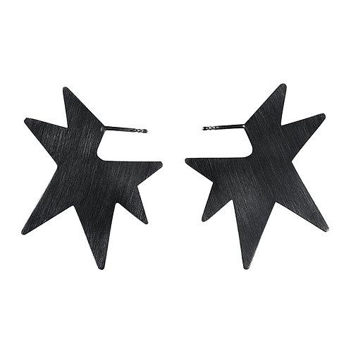 Star silver earrings / Janni Krogh
