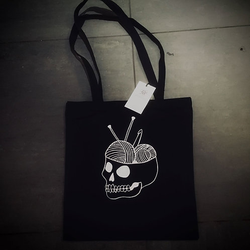 Skull or Skeleton totebag / Deadly Daisies