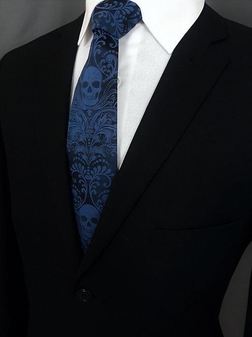 SKULL Necktie, BLUE