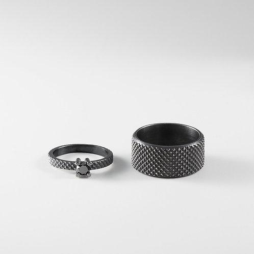 GRIP silver wedding rings / Janni Krogh