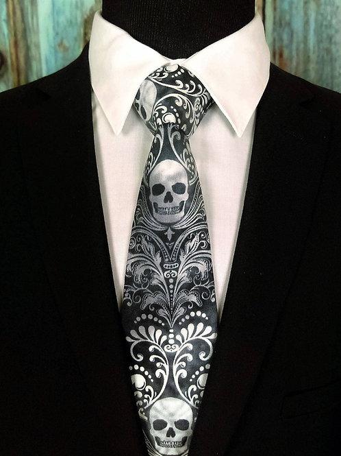 SKULL Necktie, BLACK