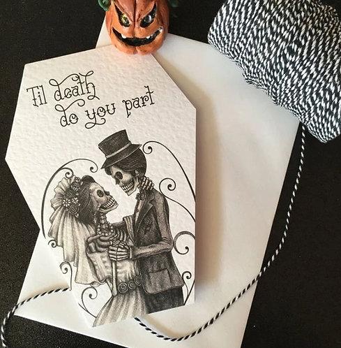 Til Death Do You Part skeleton greeting card / The Crafty Burreato