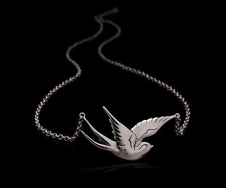 Swallow necklace / Rock'n'Gold